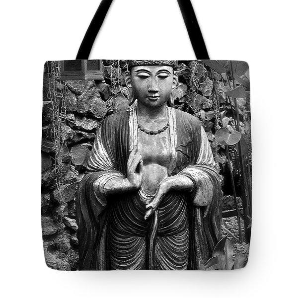 Tibetan Buddha Tote Bag by Karon Melillo DeVega