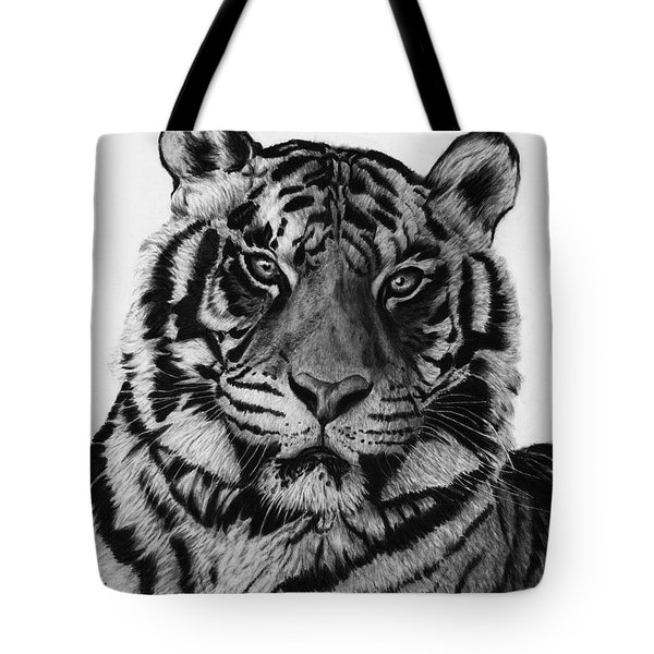 Tiger Tote Bag by Jyvonne Inman