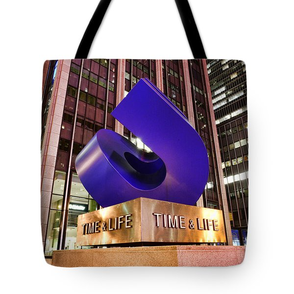 Time And Life Curved Cube Tote Bag by Paul Ward