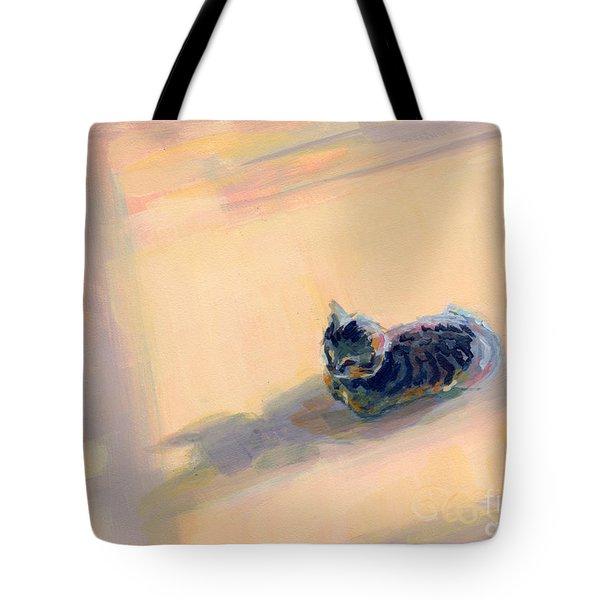 Tiny Kitten Big Dreams Tote Bag by Kimberly Santini