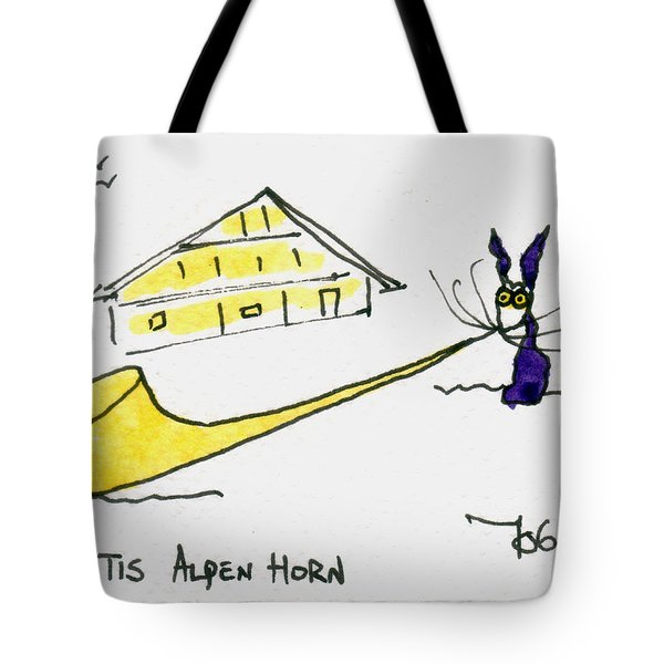 Tis Alpenhorn Tote Bag by Tis Art