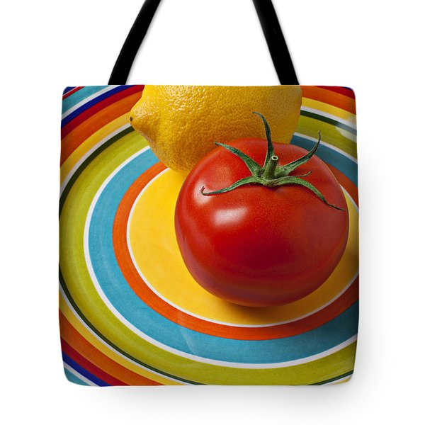Tomato And Lemon  Tote Bag by Garry Gay