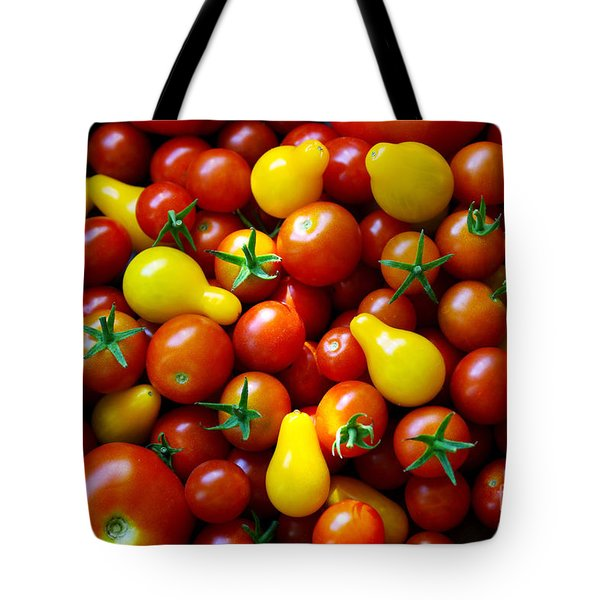 Tomatoes Background Tote Bag by Carlos Caetano