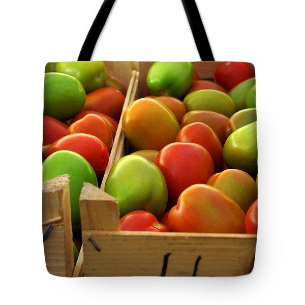 Tomatoes Tote Bag by Carlos Caetano