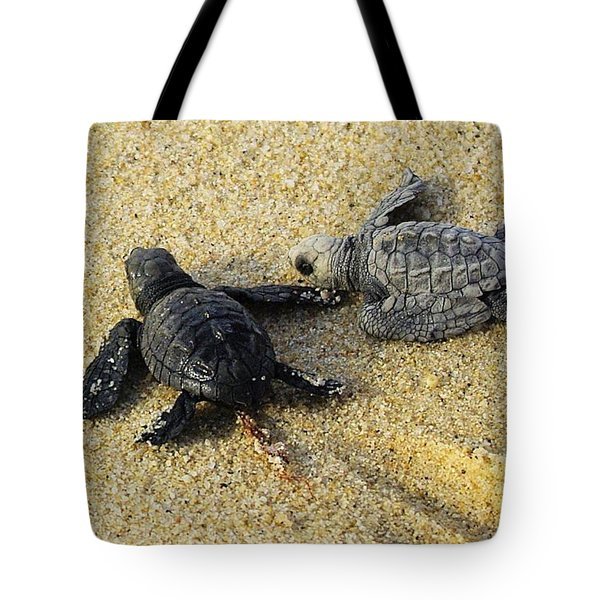 Tommy And Timmy Turtle Tote Bag by John  Greaves
