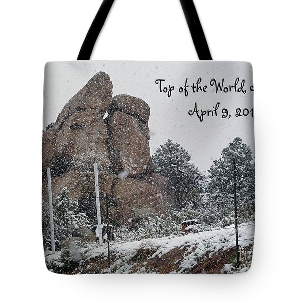 Top Of The World Arizona Tote Bag by Methune Hively