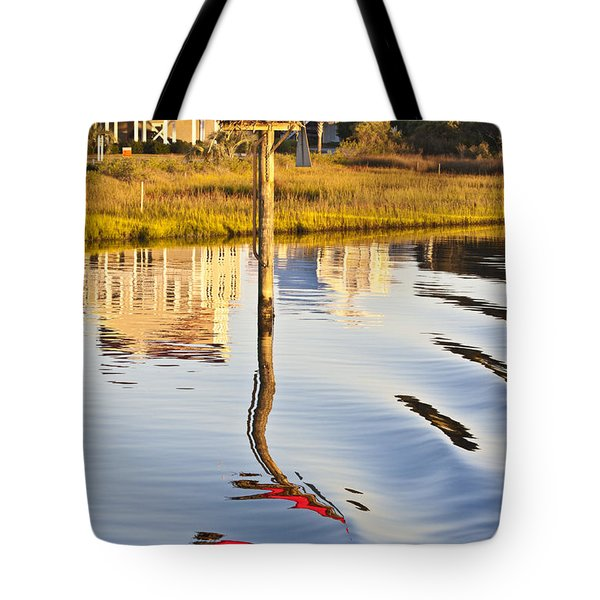 Topsail Sound Sunset Tote Bag by Betsy A  Cutler