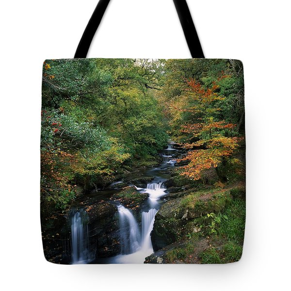 Torc Waterfall, Ireland,co Kerry Tote Bag by The Irish Image Collection