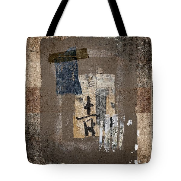 Torn Papers On Wall Number 3 Tote Bag by Carol Leigh