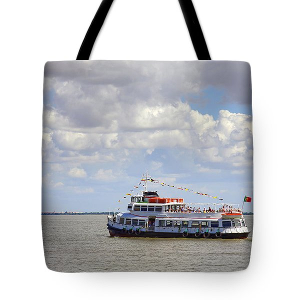 touring boat Tote Bag by Carlos Caetano