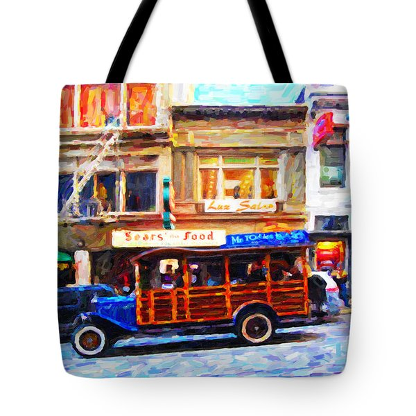 Touring The Streets of San Francisco Tote Bag by Wingsdomain Art and Photography