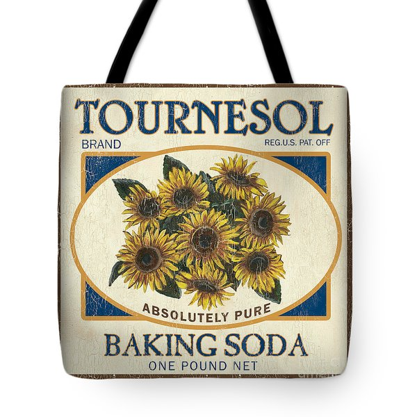 Tournesol Baking Soda Tote Bag by Debbie DeWitt
