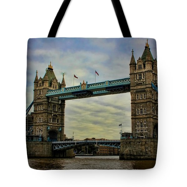 Tower Bridge London Tote Bag by Heather Applegate