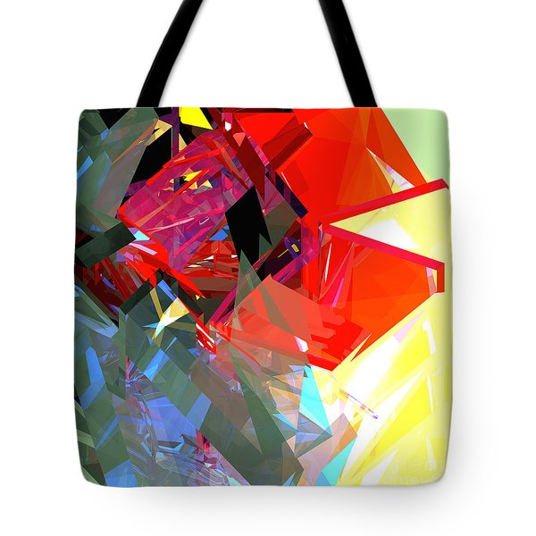 Tower Poly 17 Rose Tote Bag by Russell Kightley