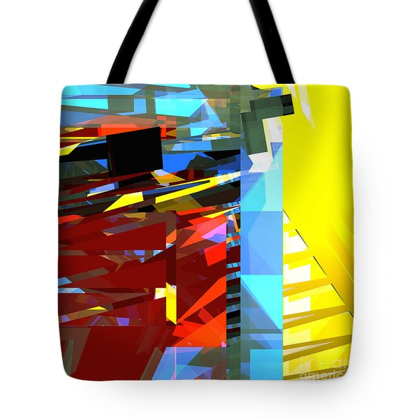 Tower Series 32 Golden Stairway Tote Bag by Russell Kightley