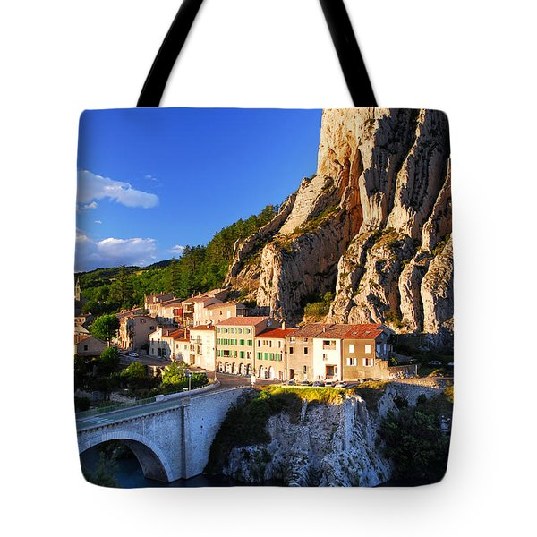 Town Of Sisteron In Provence France Tote Bag by Elena Elisseeva