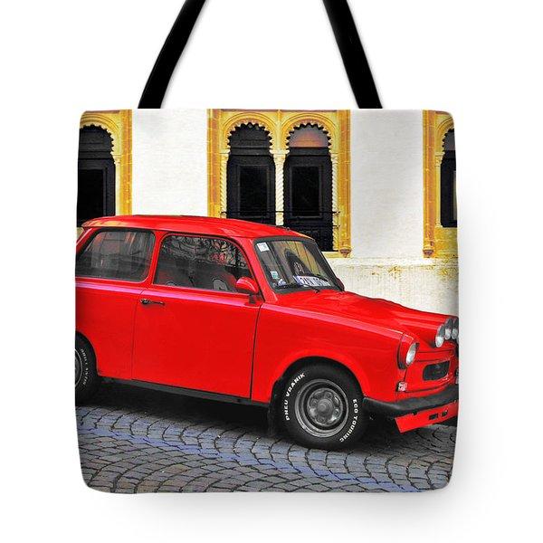Trabant Ostalgie Tote Bag by Christine Till