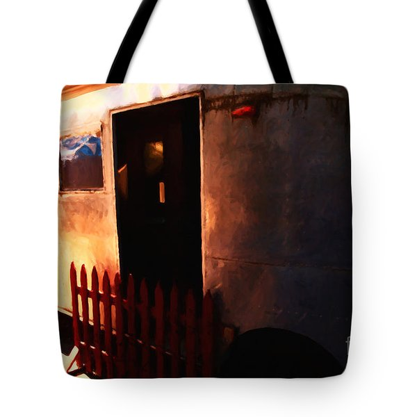 Trailer Park - Painterly - 5d16585 Tote Bag by Wingsdomain Art and Photography