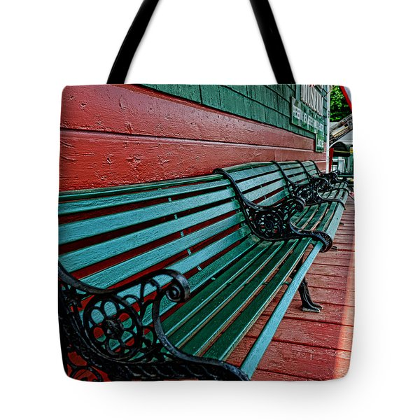 Train Station waiting area Tote Bag by Paul Ward