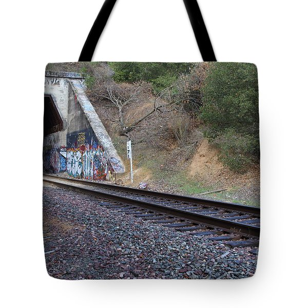 Train Tunnel At The Muir Trestle in Martinez California . 7D10228 Tote Bag by Wingsdomain Art and Photography