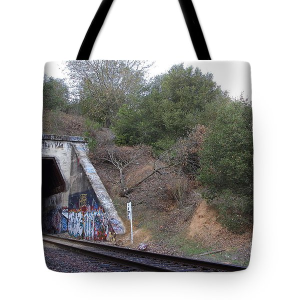 Train Tunnel At The Muir Trestle In Martinez California . 7d10229 Tote Bag by Wingsdomain Art and Photography