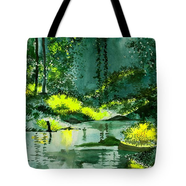 Tranquil 1 Tote Bag by Anil Nene