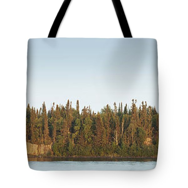 Trees Covering An Island On Lake Tote Bag by Susan Dykstra
