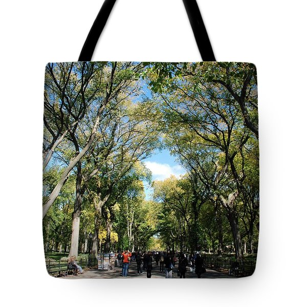 TREES on the MALL in CENTRAL PARK Tote Bag by ROB HANS