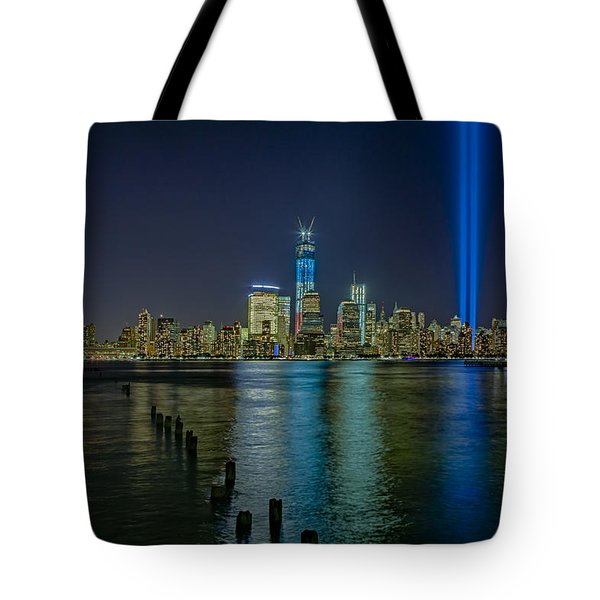 Tribute In Lights Tote Bag by Susan Candelario