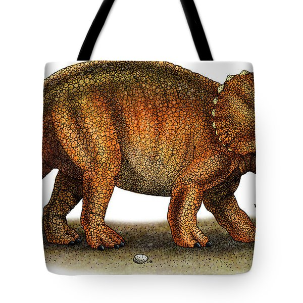 Triceratops Tote Bag by Roger Hall and Photo Researchers
