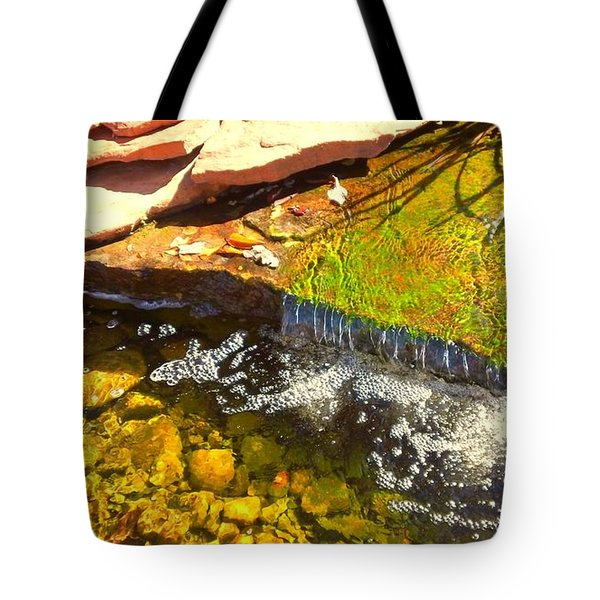 Trickle Waterfall Tote Bag by Usha Shantharam