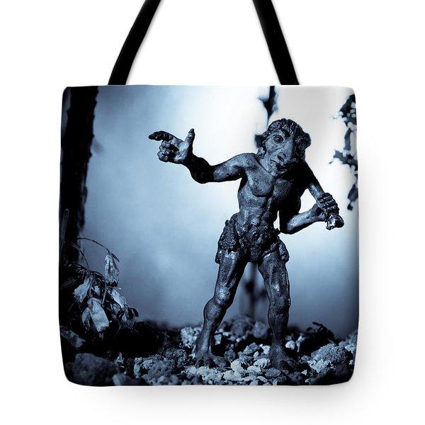 Troll Strolling On Moonlight Tote Bag by Marc Garrido