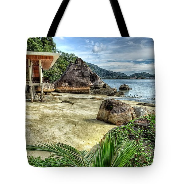 Tropical Beach Tote Bag by Adrian Evans