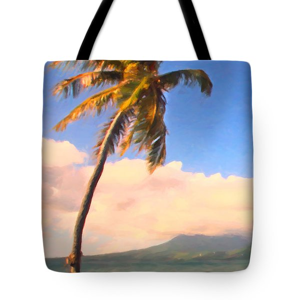 Tropical Island 2 - Painterly Tote Bag by Wingsdomain Art and Photography