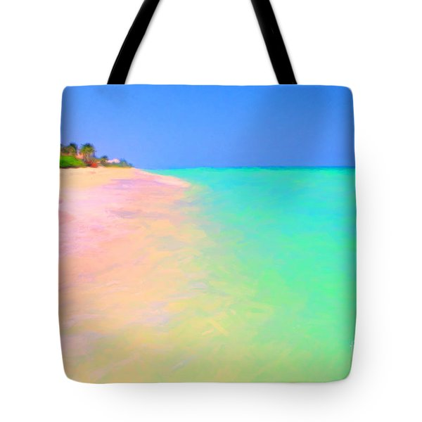 Tropical Island 7 - Painterly Tote Bag by Wingsdomain Art and Photography