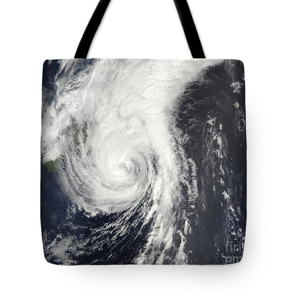Tropical Storm Krovanh Tote Bag by Stocktrek Images