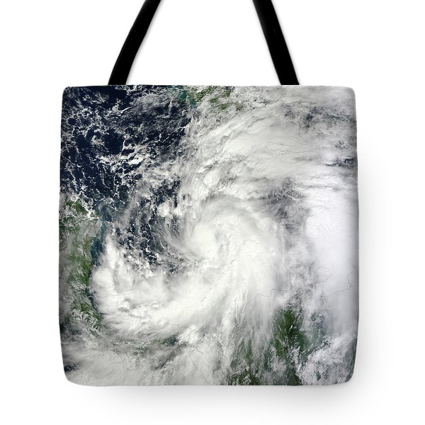 Tropical Storm Sandy Hovering Tote Bag by Stocktrek Images