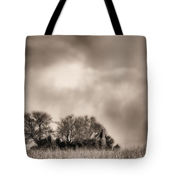 Trouble Brewing II BW Tote Bag by JC Findley