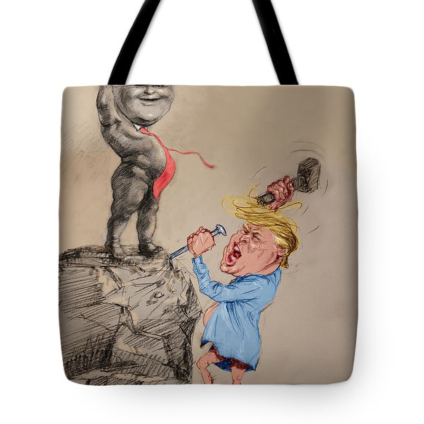 Trump Shaping Up The Future Tote Bag by Ylli Haruni
