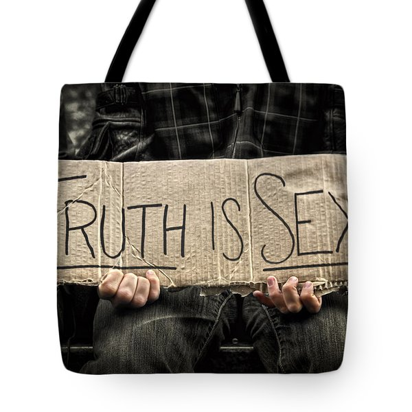 Truth Is Sexy Tote Bag by Evelina Kremsdorf
