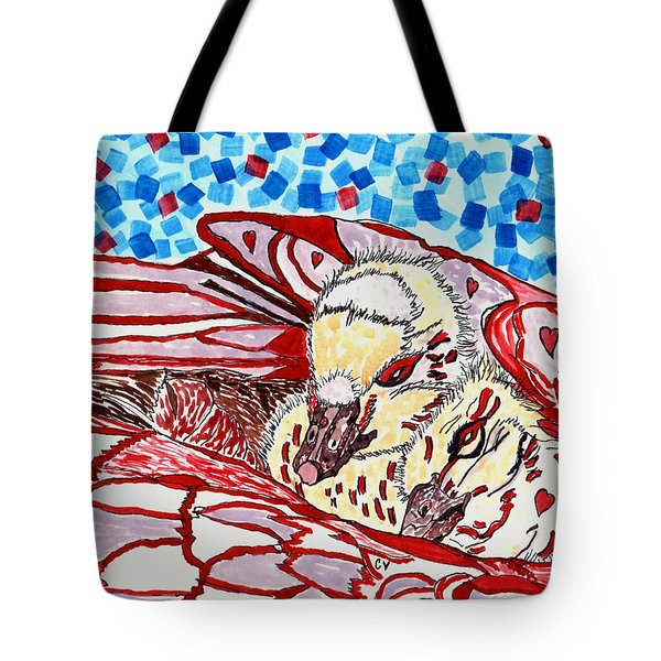 Tucked In Mom No.3 Tote Bag by Connie Valasco