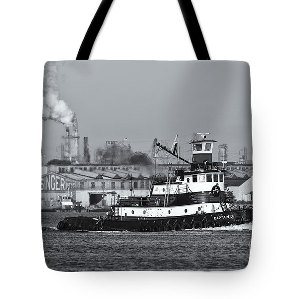 Tugboat Captain D In Newark Bay II Tote Bag by Clarence Holmes