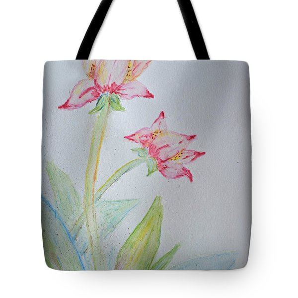 Tulip Duo I  Tote Bag by Debbie Portwood