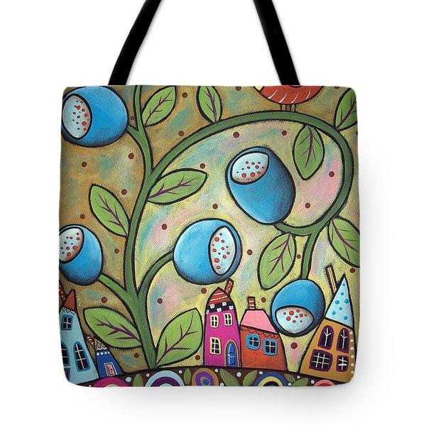 Tulip Town Tote Bag by Karla Gerard
