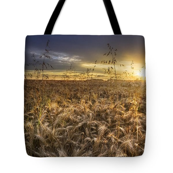 Tumble Wheat Tote Bag by Debra and Dave Vanderlaan