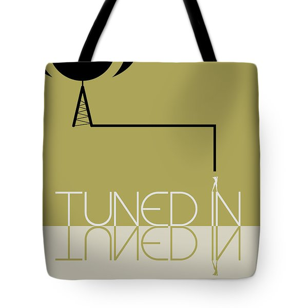 Tuned In Poster Tote Bag by Naxart Studio