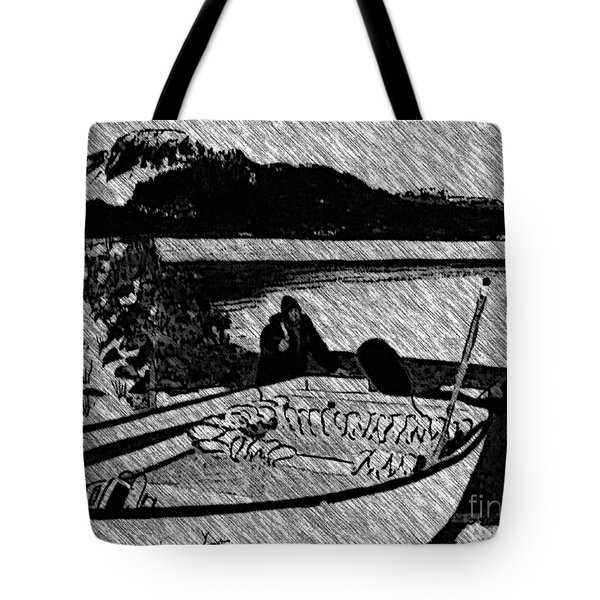 Turr Hunt Sketch Tote Bag by Barbara Griffin