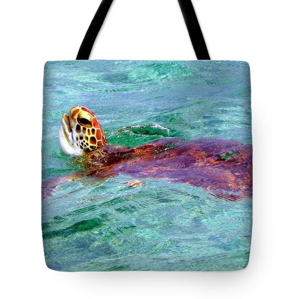 Turtle Time Tote Bag by Karen Wiles
