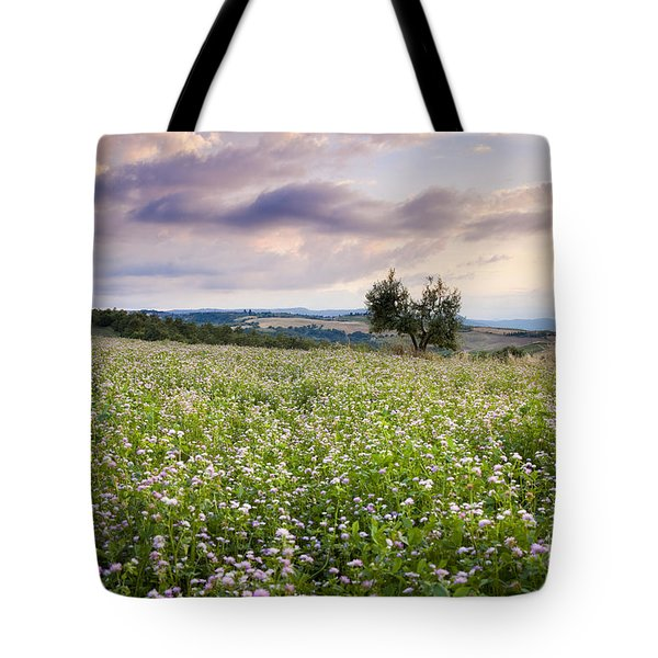 Tuscany Flowers Tote Bag by Brian Jannsen