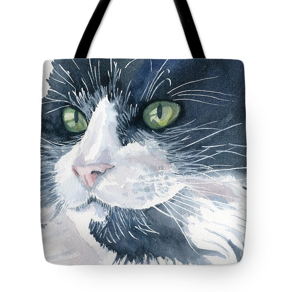 Tuxedo Tote Bag by Marsha Elliott